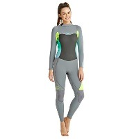 RoxyレディースRoxy Syncro 3 / 2 mm Back Zip Full Wetsuit erjw103012 グレイ