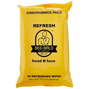 Bee Bald Refresh Head and Face Wipes 30 wipes by Bee Bald