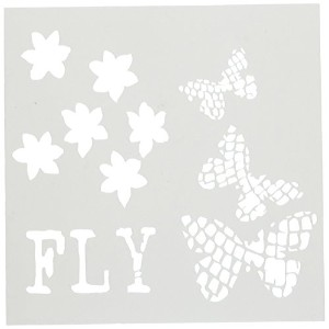 Crafters Workshop Butterflight Crafter's Workshop Template, 6 by 6 by CRAFTERS WORKSHOP