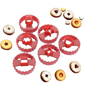 New Arrival Set of 6 Multifunctional Cookie Cutter Cake Decorating Fondant Cutters Tool Linzer...