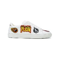 Philipp Plein embroidered patch sneakers - ホワイト