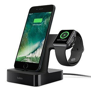 ベルキン PowerHouse Charge Dock for Apple Watch + iPhone F8J200QEBLK ブラック(送料無料)