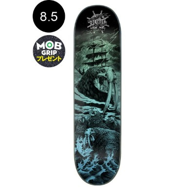 【CREATURE クリーチャー】8.5in x 32.25in BLACK ABYSS RUSSELL PRO DECKデッキ クリス・ラッセル スケートボード スケボー ストリート sk8...