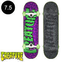 【CREATURE クリーチャー】7.5in x 30.6in SANCTIONED SM COMPLETEコンプリートデッキ(完成組立品)※12歳以上推奨 スケートボード スケボー ストリート...
