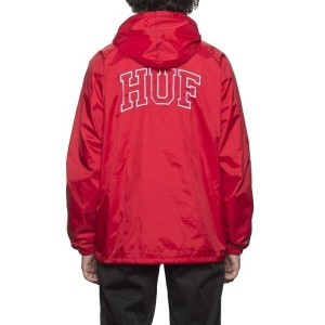 HUF Arch Block Hooded Coach Jacket Red M