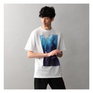 【Education from Youngmachines】MENS KUBO KENJI フォトT【ギルドプライム/GUILD PRIME メンズ Tシャツ・カットソー ホワイト ルミネ...