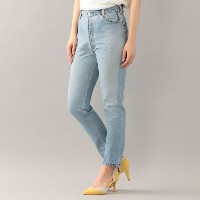 【GUILD PRIME ギルドプライム】 【RE/DONE】WOMENS デニム-HIGH RISE ANKLE CROP 1003HRAC- ブルー レディース