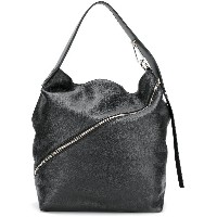 Proenza Schouler Medium Pebbled Leather Zip Hobo - ブラック