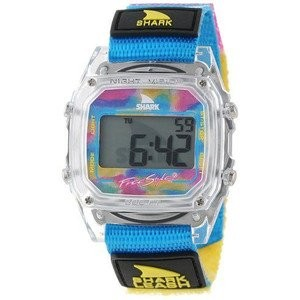 腕時計 Freestyle Unisex 102245 Shark Fast Strap Retro 80's Digital Blue and Clear Watch【並行輸入品】