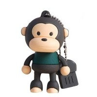 Monkey USB Flash Drive 16GB - Memory Stick Data Storage - Pendrive - Multicolor