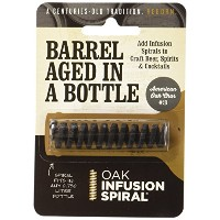 2 Pack - Barrel Aged in a Bottle Oak Infusion Spiral. Barrel Age Your Whiskey - Bourbon - Wine -...