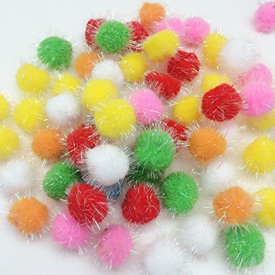 10pc Assorted Color Pom Pom Balls My Cat's All Time Favorite Toy [Misc.] by PEPPERLONELY