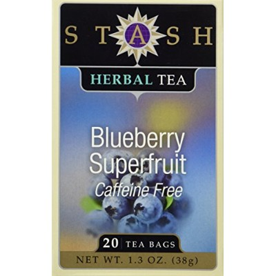 Stash Tea - Herbal - Blueberry Superfruit - 20 Bags - Case of 6