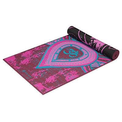 (Be Free) - Gaiam Yoga Mat - Premium 6mm Print Reversible Extra Thick Exercise & Fitness Mat for...