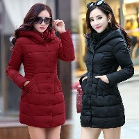 NEW Winter Coat Woman Long Outerwear Thicken Parkas Woman Down & Parkas Coat Fashion Slim Casual Coa