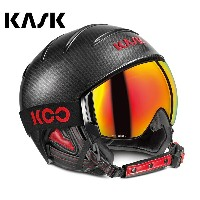 '17-18KASKカスクゴーグル&ヘルメット「Combo Elite Pro」Carbon/Black Red(SHE00051.271)【全国送料無料】
