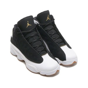 NIKE AIR JORDAN RETRO 13 GG(ナイキ ガールズ エア ジョーダン 13 レトロ GG)(BLACK/METALLIC GOLD-WHITE-GUM MED BROWN...