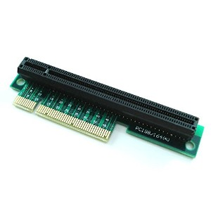 PCI - E 8 X to 16 xライザーアダプタfor 1u / 2u PCI - Express x8 to x16 right-anglecard