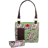 2 Red Hens Rooster Latte Swirl Diaper Bag by 2 Red Hens [並行輸入品]
