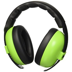 Baby Banz Earmuffs and Infant Hearing Protection and Sunglasses Combo 0-2 Years, Lime Green by Baby Banz