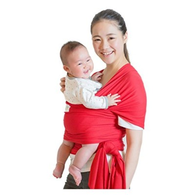 Classic Cotton Baby Wrap - Proprietary Fabric is SOFTER and STURDIER, by Beechtree Baby (Red) by...