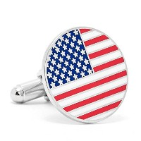 Cufflinks IncメンズAmerican Flag Cufflinks One Size レッド
