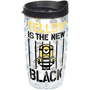 Tervis Despicable Me 3–イエローis the新しいブラックWavy Wrap Tumbler withブラック蓋10oz