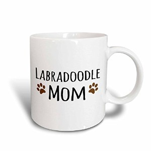 3dローズInspirationzStoreペットデザイン–Labradoodle Dog Mom–Doggie by Breed–ブラウンMuddy Paw Prints–犬愛好家...