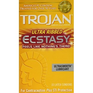 Trojan Stimulations Ecstasy Lubricated Condoms 10 Ea by Paradise Marketing