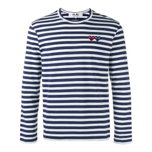 Comme Des Garçons Play Breton ボーダー柄 カットソー - ブルー