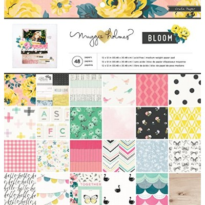 American Crafts Crate Paper Maggie Holmes Bloom 36 Sheet Paper Pad, 12 by 12 by American Crafts