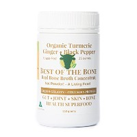 Organic Beef Bone Broth Gelatin - Organic Turmeric Ginger Black Pepper. Australia & NZ Grass Feed...