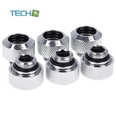Alphacool Eiszapfen 13mm HardTube compression fitting G1/4 for plexi-brass tubes-knurled-chrome...