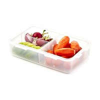 Lock&Lock 27-Fluid Ounce Rectangular Food Container with Divider, Short, 3.3-Cup by LockandLock