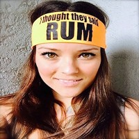 I Thought They Said RUM 。ヘッドバンドbyヒッピーランナー。汗発散性ヘッドバンド。汗止めバンド&スポーツヘッドバンドfor Running、クロスフィット、Working...
