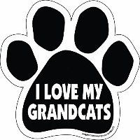 High quality Paw Car Magnet, I Love My Grandcats, 5-1/2-Inch by 5-1/2-Inch