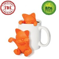 bestoffer Kitten Cat kit-tea Tea InfuserシリコンLooseリーフオレンジ