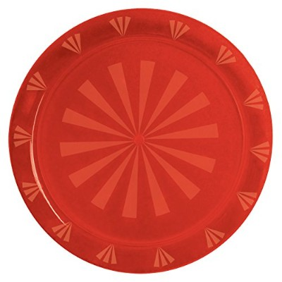 (Red) - Party Essentials Hard Plastic 41cm Round Serving Tray, Red, Single Unit