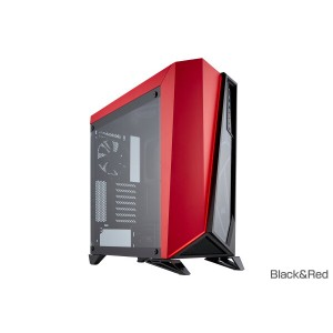 【送料無料】CORSAIR Carbide SPEC-OMEGA Tempered Glass Black&Red 正規代理店保証付