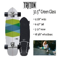 "TRITON SKATEBOARD,トライトンスケートボード/32.5""GREEN GLASS/CX.4 TRACK/サーフスケート/by carver/カーバースケートボード/2018年日本先行発売..."
