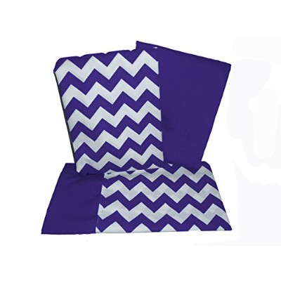 Baby Doll Bedding Chevron Crib and Toddler Sheet Set, Plum by BabyDoll Bedding