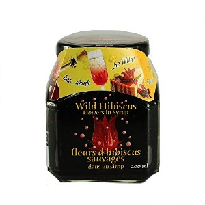 Wild Hibiscus Flowers in Syrup - 11 Flowers in Syrup 250g(8.8oz) ワイルドハイビスカスフラワー イン シロップ