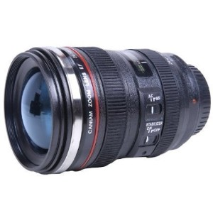 New Looks Like Canon SLR Lens 24-105mm Travel Coffee Mug / Cup /  with Drinking Lid Stainless Steel...