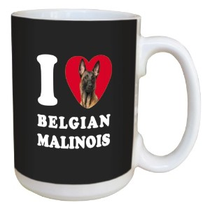 ツリーフリーGreetings lm45008 I Heart Belgian Malinois Ceramic Mug withフルサイズハンドル、15オンス