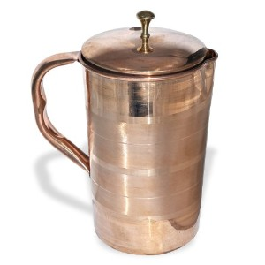 DakshCraft Hight Quality Pure Copper Jug with Lid for Health Benefits by DakshCraft