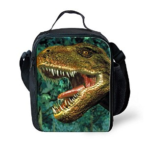ZMASI 絶縁子供恐竜弁当袋 ピクニックバッグ Dinosaur Printed Thermal Insulated Lunch Bag (2)