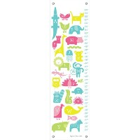 Oopsy Daisy ABC Animalia Pinks by Ampersand Design Studio Growth Charts, 12 by 42-Inch by Oopsy...