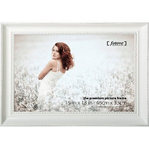 Fotove 13x19 White Crown Picture Photo Frame by FOTOVE