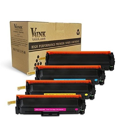 v4ink 4パック新しい交換用for Canon CRG 046h高Yield KCMYトナーカートリッジfor use with Canon Color LaserJet mf733cdw...