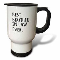 3dローズInspirationzStoreタイポグラフィ–Best Brother in Law Ever–家族と親戚ギフト–ブラックテキスト–旅行マグ 14-Ounce ホワイト...